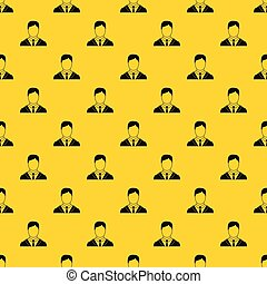 Man in business suit pattern vector