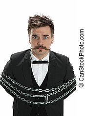 Man in chains