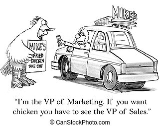 """Man in chicken suit directs a customer elsewhere - """"I'm the..."""