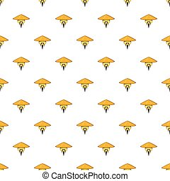 Man in chinese conical hat pattern, cartoon style