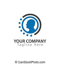 Man in circle, Logo Vector