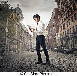 Man in city