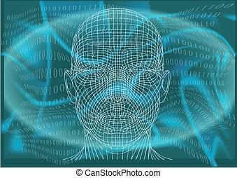 man in cyberspace