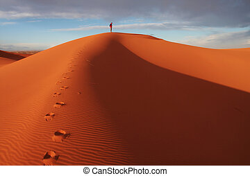 Man in desert - Men observed sand desert