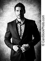 man in elegant suit