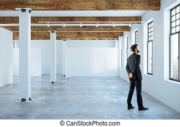 Man in empty room