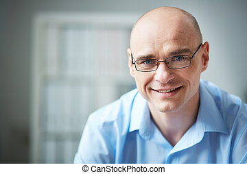Man in eyeglasses - Portrait of attractive businessman in...