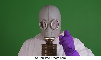 man in gas mask - man wearing a gasmask