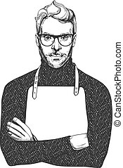 Man in glasses and apron