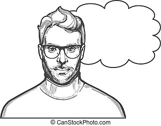 Man in glasses illustration