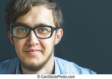 Man in glasses.