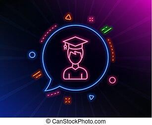 Man in Graduation cap line icon. Education. Vector