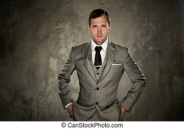 Man in grey suit
