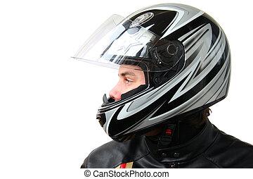 man in helmet - man in motorbike helmet