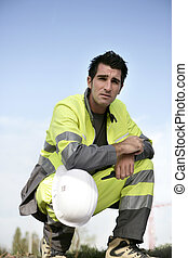 Man in high visibility clothing