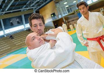 Man in judo hold