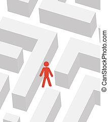 man in labyrinth