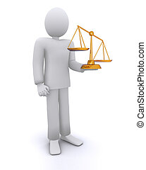 man in law, scale of justice