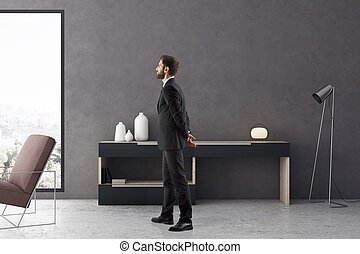 Man in living room
