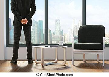 Man in lobby