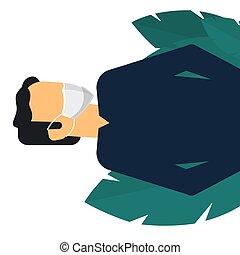Man in mask. Novel Coronavirus Outbreak. Virus Covid 19-NCP.
