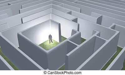 Man in maze