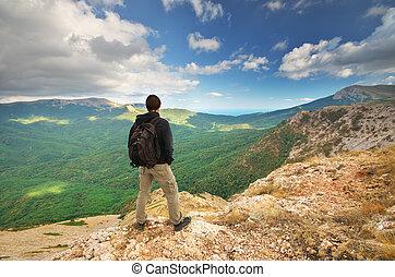 Man in mountain