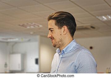 man in office