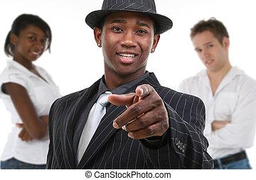 Man in Pinstrip Suit