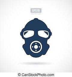 Man in respirator vector icon
