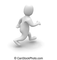 Man in run