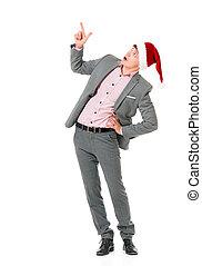Man in Santa hat