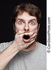 Man in shock after finding secret news - Man in shock after...