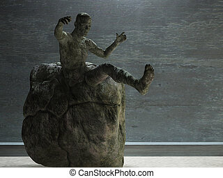Man in stone
