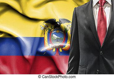 Man in suit from Ecuador