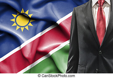 Man in suit from Namibia