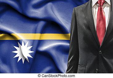 Man in suit from Nauru