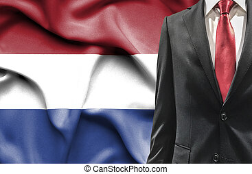 Man in suit from Netherlands