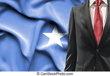 Man in suit from Somalia