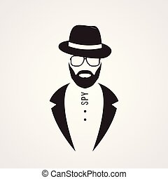 Man in suit, hat and sunglasses.