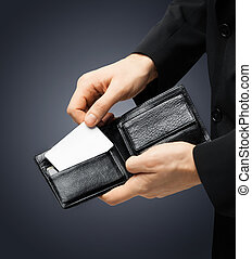 man in suit holding credit card - man in suit with wallet ...