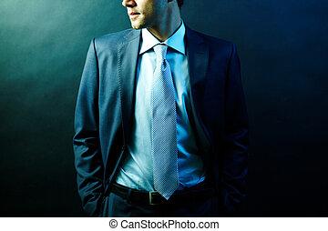 Man in suit - Figure of elegant businessman in suit posing...