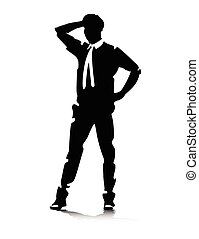 man in suit posing vector