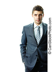 Man in suit - Portrait of attractive businessman in suit...