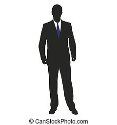 Man in suit. Vector illustration