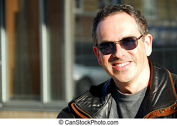Man in sunglasses - Smiling man in sunglasses
