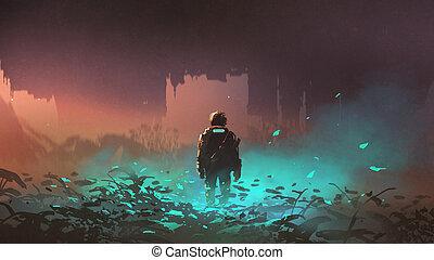 Fantasy Glowing Spores Art