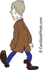 Man in the brown coat