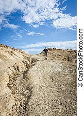 Man in the desert of Bardenas
