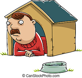 Man in the Doghouse